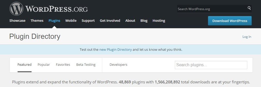 The plugin directory